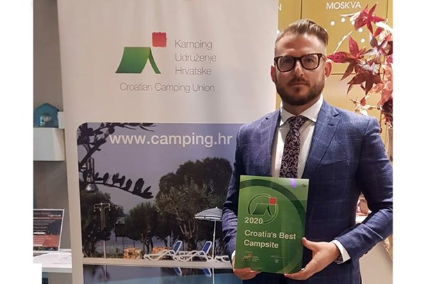 Zvonimir Tudorovic at the recognition of the Best Campsites in Croatia, for the Jezera Village campsite
